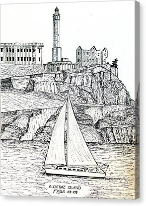 Alcatraz Island Canvas Print by Frederic Kohli