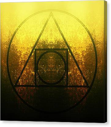 Alchemy - Squared Circle Canvas Print by Edouard Coleman