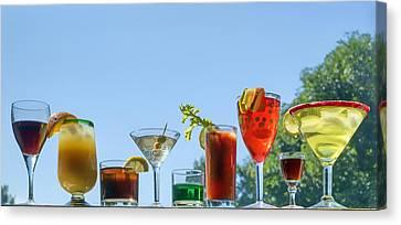 Alcoholic Beverages - Outdoor Bar Canvas Print by Nikolyn McDonald
