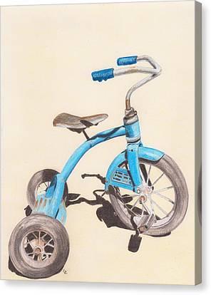 Alder's Bike Canvas Print by Glenda Zuckerman