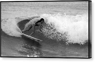Alessa Quizon Cutback Canvas Print by Brad Scott