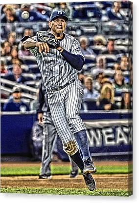 Alex Rodriguez New York Yankees Art 2 Canvas Print by Joe Hamilton