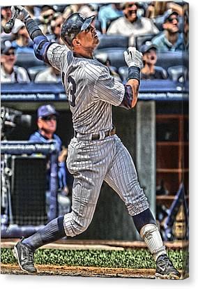 Alex Rodriguez New York Yankees Art 5 Canvas Print by Joe Hamilton