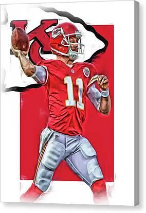 Alex Smith Kansas City Chiefs Oil Art Canvas Print by Joe Hamilton