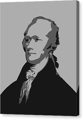 Alexander Hamilton Graphic Canvas Print by War Is Hell Store