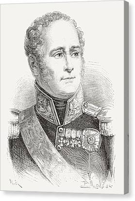 Alexander I Of Russia, 1777 Canvas Print by Vintage Design Pics