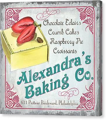 Alexandra's Baking Company Canvas Print by Debbie DeWitt