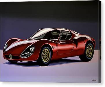 Alfa Romeo 33 Stradale 1967 Painting Canvas Print by Paul Meijering