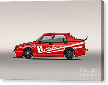 Alfa Romeo 75 Tipo 161 Works Corse Competizione Rosso Canvas Print by Monkey Crisis On Mars
