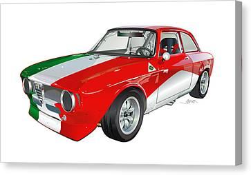 Alfa Romeo Gtv Illustration Canvas Print by Alain Jamar