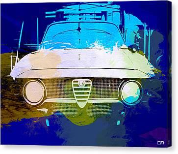 Alfa Romeo Watercolor Canvas Print by Naxart Studio