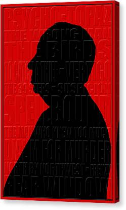 Alfred Hitchcock Canvas Print by Andrew Fare