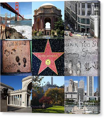 Alfred Hitchcock Jimmy Stewart Kim Novak Vertigo San Francisco 20150608 Canvas Print by Wingsdomain Art and Photography