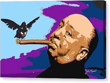 Alfred Hitchcock Canvas Print by John Keaton