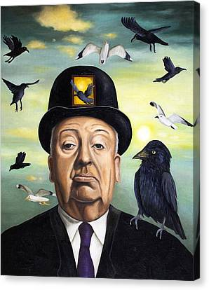 Alfred Hitchcock Canvas Print by Leah Saulnier The Painting Maniac