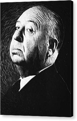 Alfred Hitchcock Canvas Print by Taylan Soyturk
