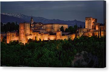 Alhambra Sunset Canvas Print by Joan Carroll