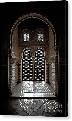 Alhambra Window Canvas Print by Jane Rix