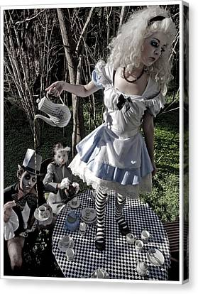 Alice And Friends 1 Canvas Print by Kelly Jade King