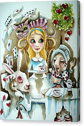 Alice In Wonderland 1 Canvas Print by Lucia Stewart