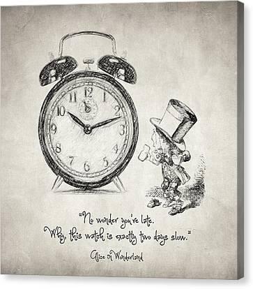 Alice In Wonderland Quote Canvas Print by Taylan Soyturk