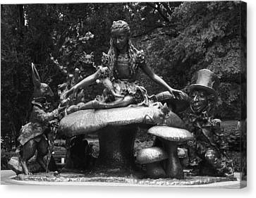 Alice In Wonderland Sculpture Central Park Canvas Print by Christopher Kirby
