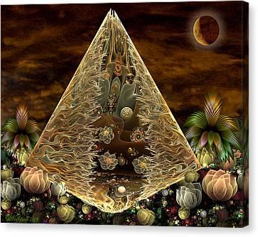 Alien Pyramid Canvas Print by Peggi Wolfe