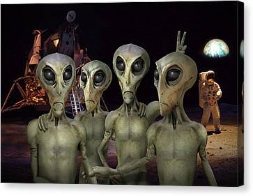 Alien Vacation - Kennedy Space Center Canvas Print by Mike McGlothlen