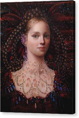 Alizarin Closeup Canvas Print by Loretta Fasan