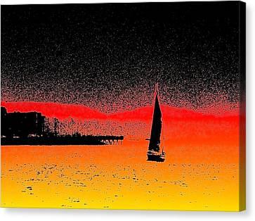 Alki Sail  Canvas Print by Tim Allen