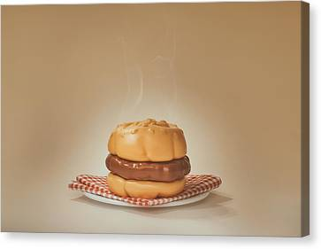All-american Burger Canvas Print by Scott Norris