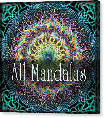All Mandalas Canvas Print by Becky Titus