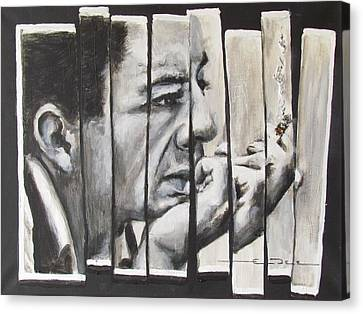 All Together Johnny Cash Canvas Print by Eric Dee