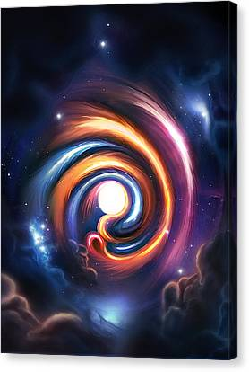 Allah  Enlightenment  Canvas Print by Ahmer Farooqui