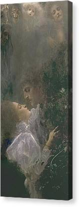 Allegory Of Love Canvas Print by Gustav Klimt
