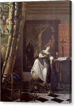 Allegory Of The Faith Canvas Print by Jan Vermeer