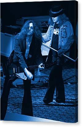 Allen Collins And Ronnie Van Zant Same Old Winterland Blues Canvas Print by Ben Upham