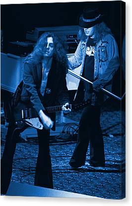 Allen Collins And Ronnie Van Zant Same Old Winterland Blues Canvas Print by Ben Upham