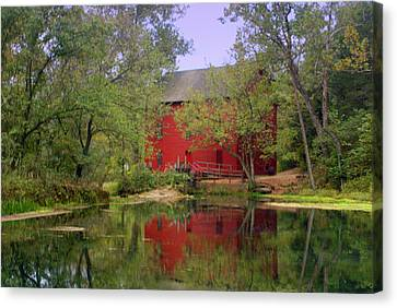 Allsy Sprng Mill 2 Canvas Print by Marty Koch