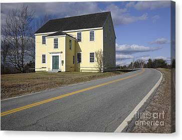 Alna Meetinghouse - Alna Maine Usa Canvas Print by Erin Paul Donovan