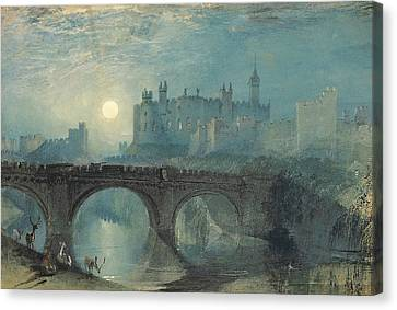 Alnwick Castle Canvas Print by Joseph Mallord William Turner
