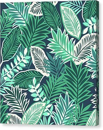 Aloha Jungle Vibes Canvas Print by Arte Flora Design Studio