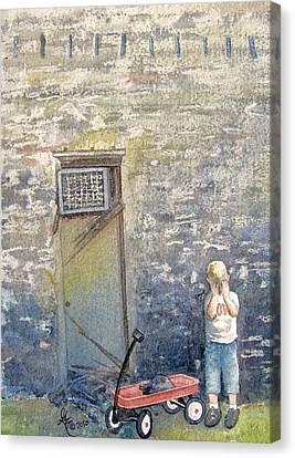 Alone Canvas Print by Gale Cochran-Smith