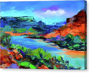 Along Colorado River - Utah Canvas Print by Elise Palmigiani