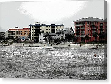 Along The Beach Canvas Print by Kathleen Struckle
