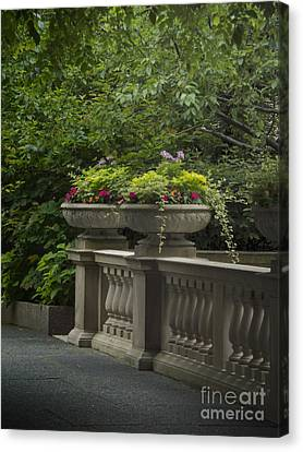 Along The Garden Path Canvas Print by Margie Hurwich
