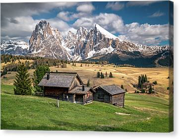 Alpe Di Suisi Cabin Canvas Print by James Udall