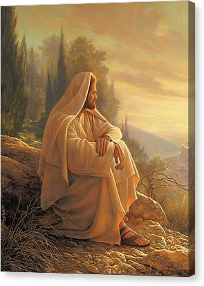 Alpha And Omega Canvas Print by Greg Olsen