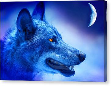 Alpha Wolf Canvas Print by Mal Bray