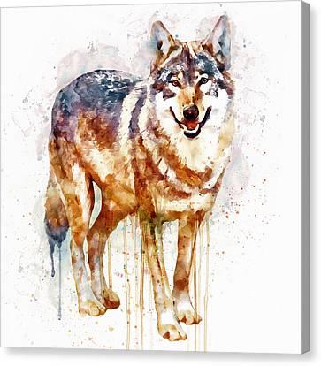 Alpha Wolf Canvas Print by Marian Voicu